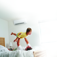 Air conditioning repair father and son playing Atlas Heating and Air Conditioning Inc HVAC contractor Augusta GA